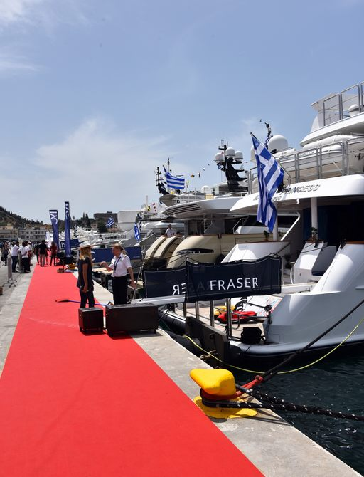 Superyacht 'Ionian Princess' at the Mediterranean Yacht Show 2017