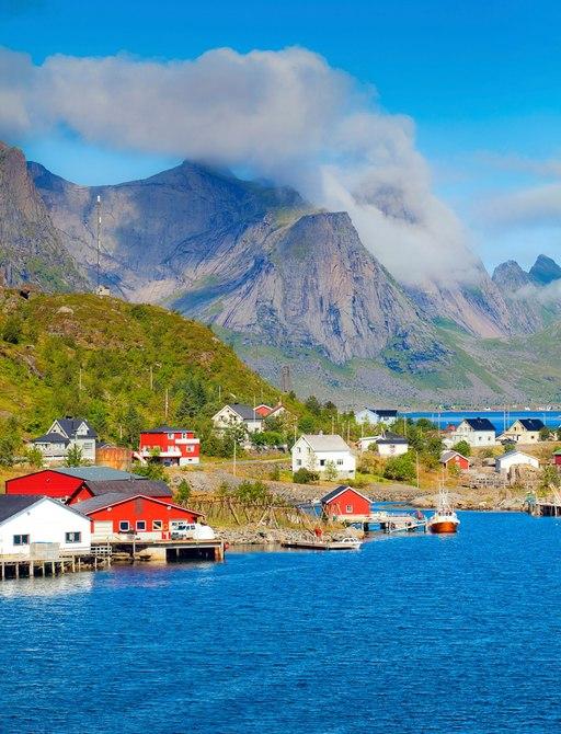 tiny sea village of Reine in Lofoten, Norway