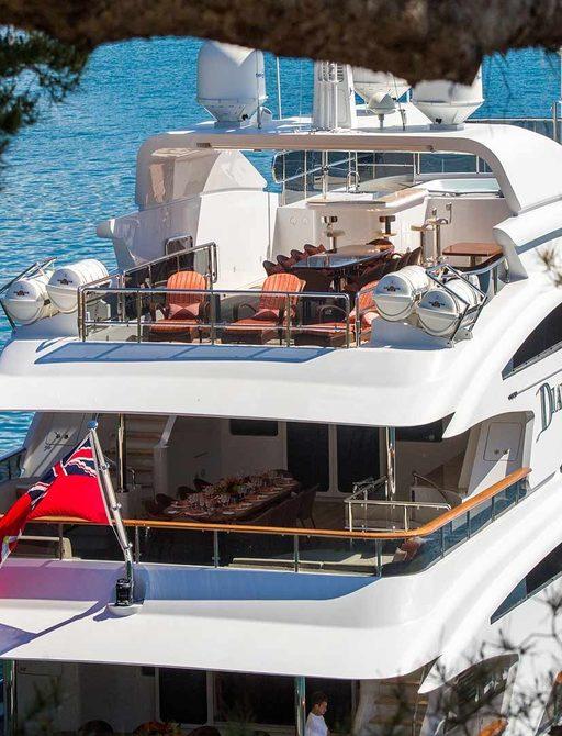 Decks on board superyacht DIANE