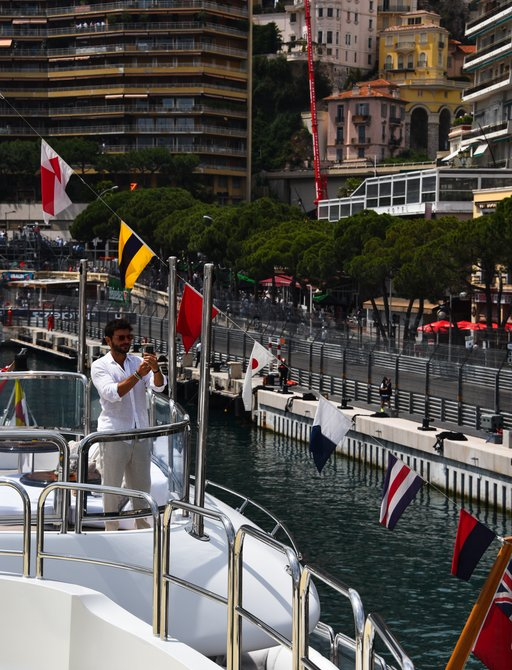 charter guest enjoys formula 1 races in monaco during grand prix weekend