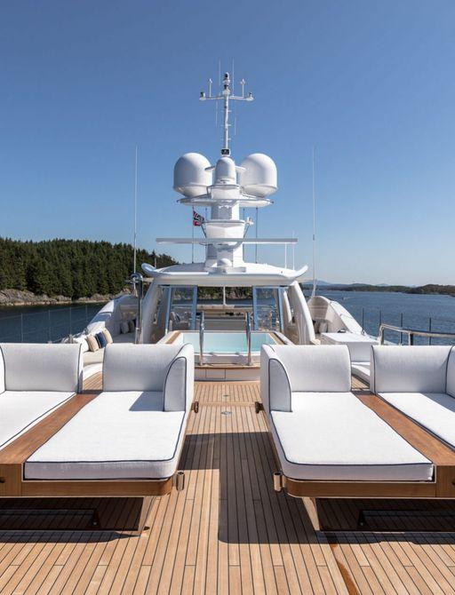 Sundeck onboard Lili