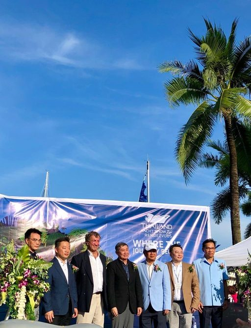 officials take part in the opening ceremony at the Thailand Yacht Show & Rendezvous in Phuket