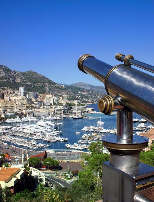 superyachts line up in Monte Carlo, Monaco