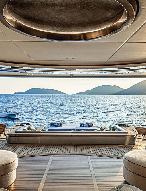 views over the sea from benetti superyacht rebeca