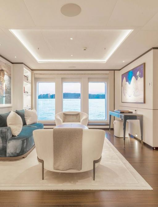 hasna yacht owners lounge area