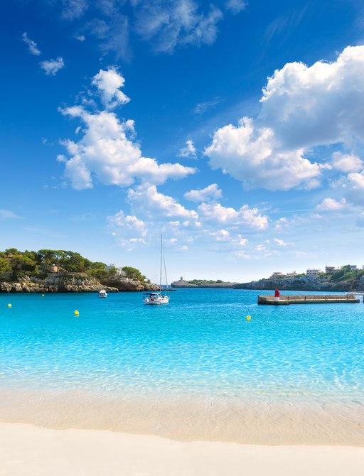 Porto Cristo beach in Mallorca, Spain