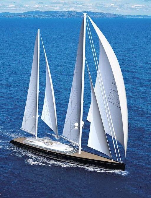Sailing yacht VERTIGO on deep blue waters