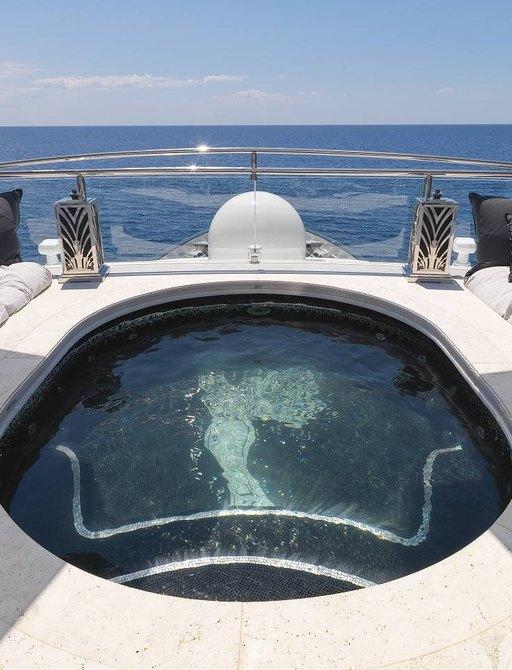 Sundeck spa pool on board MY Silver Angel