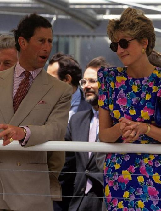 Princess Diana with Prince Charles on holiday in Seville