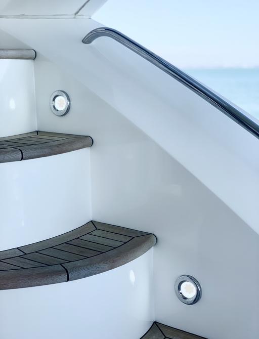 steps on board sunseeker charter yacht chess