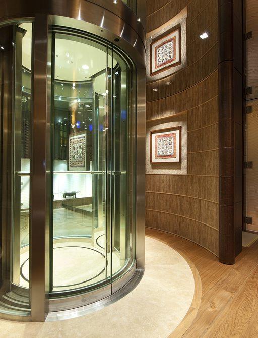 Superyacht NAIA's all access elevator