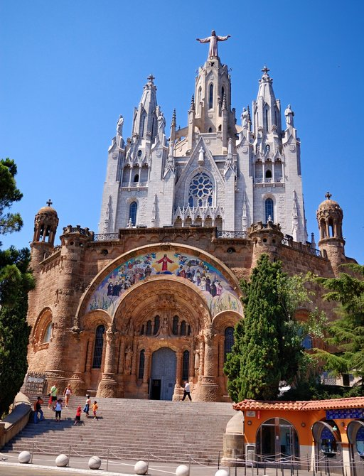 Temple of the Sacred Heart of Jesus in Barcelona, Spain