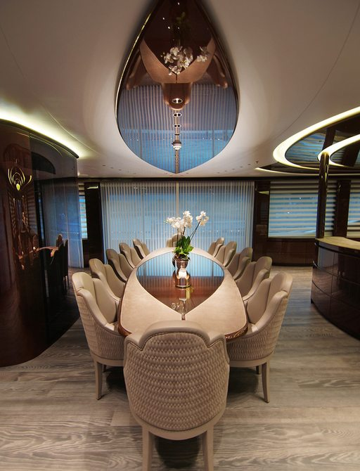 baba's yacht formal dining area