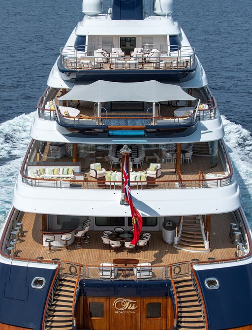 111m superyacht TIS: 33rd largest yacht in the world now for charter photo 10