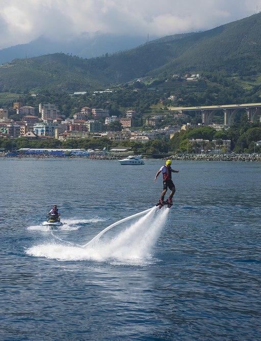 arbema yacht hoverboard