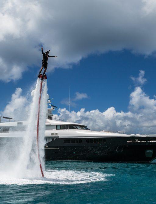 flyboard on superyacht mariu (attending pop-up montenegro superyacht show)