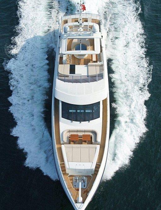 superyacht TATIANA cruising in monaco during the monaco grand prix