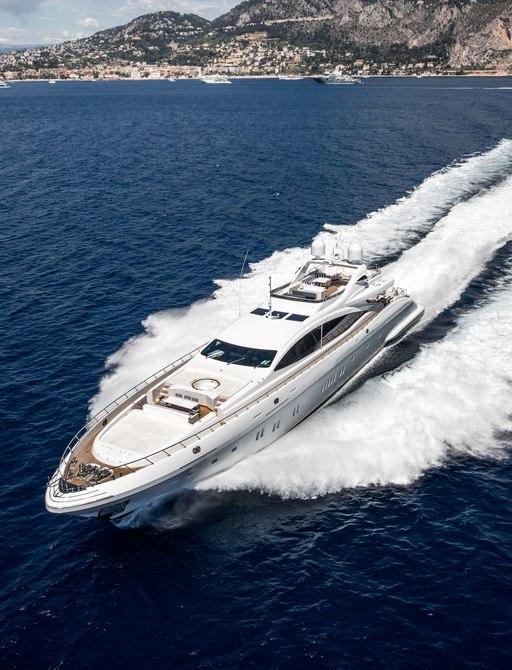 Sportsboat underway in Greece
