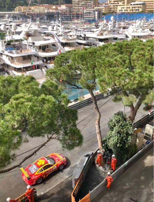 Porsches on the Monaco Grand Prix race track