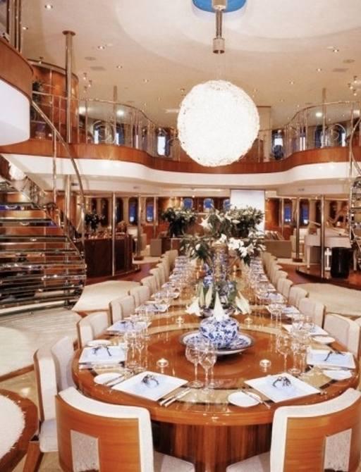 luxury motor yacht SHERAKHAN's main salon