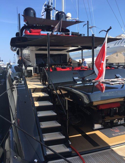 superyacht Black Legend at the Monaco Yacht Show 2017