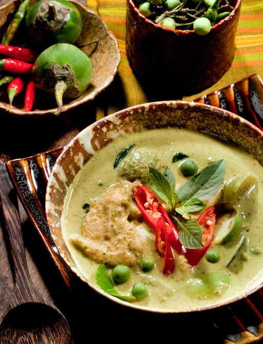 chicken green curry served throughout Thailand