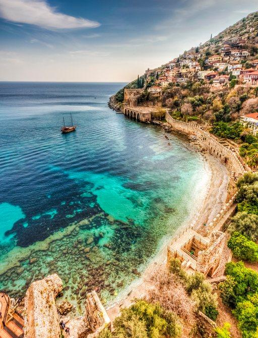Beautiful Alanya coastal town in Turkey
