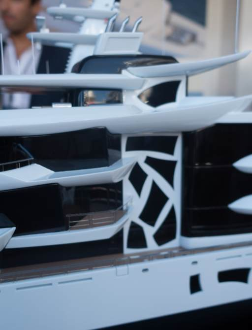 model of superyacht artefact