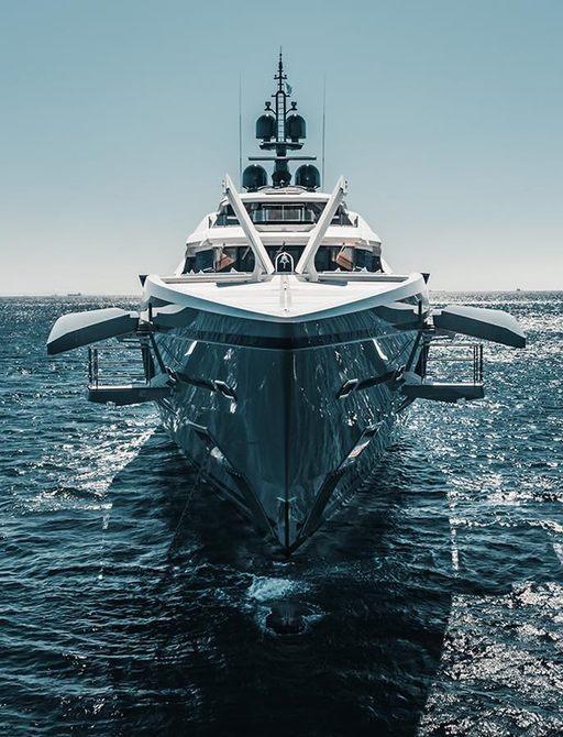bilgin yachts tatiana view from front-on