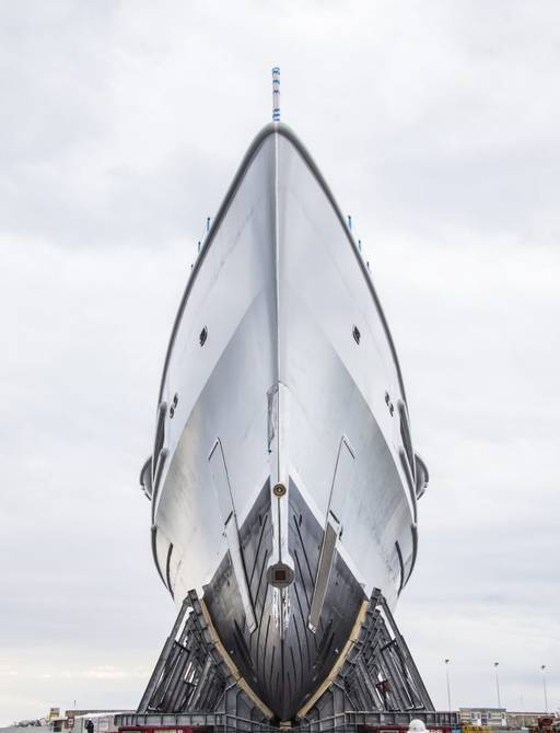 Benetti superyacht project FB 277 shot from front