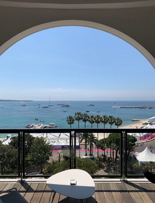 View of yachts at anchor in Cannes for Cannes Lions festival of creativity