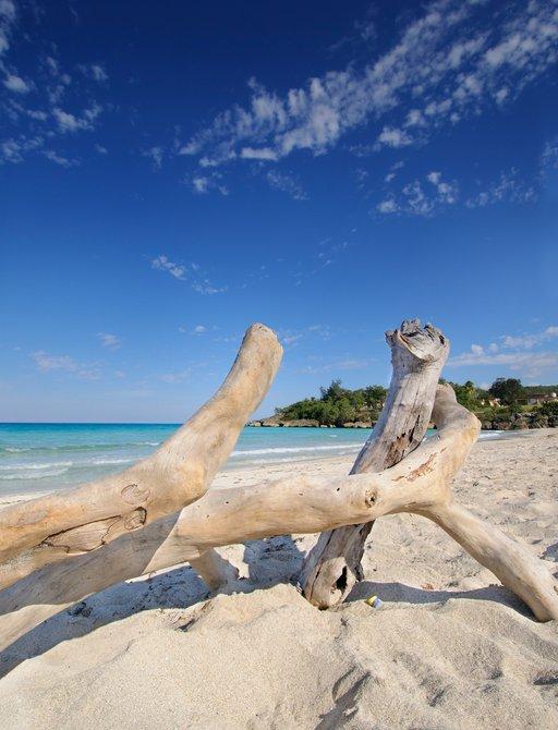 gorgeous white sand beach in Cuba