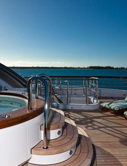 Sundeck Jacuzzi on superyacht AQUILA