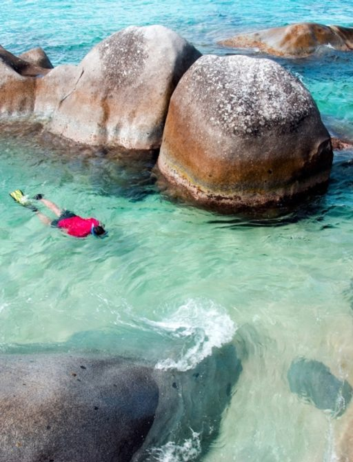 Enjoy snorkelling in the crystal clear Caribbean waters