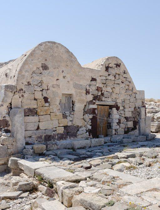 Ancient thera ruins greece