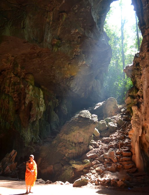 A monk in natural formation found at the Thung Salaeng Luang National Park