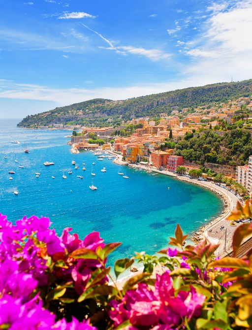View over the French Riviera