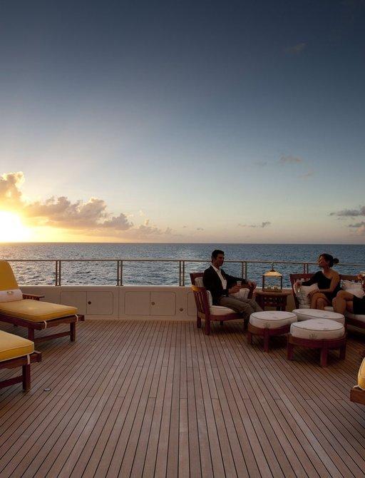 superyacht OASIS deck sun loungers