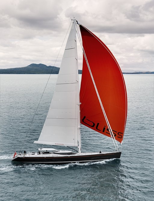 sailing yacht BLISS gets underway on a charter vacation