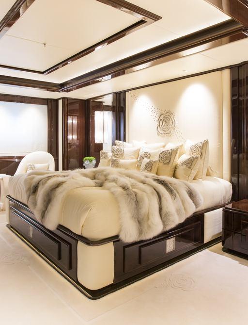 Superyacht Illusion V's sumptuous VIP suite