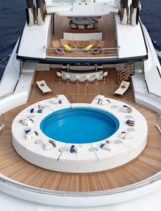 Swimming pool on upper deck