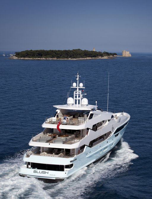 Superyacht BLUSH is up for Best Exterior Styling