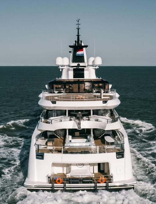 Aft view of LADY S yacht
