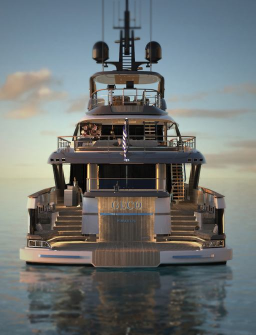 luxury yacht geco aft deck view