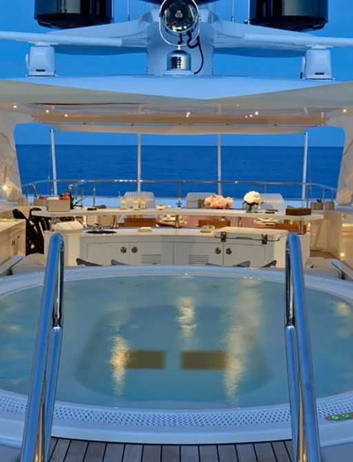 Sundeck pool onboard Moskito