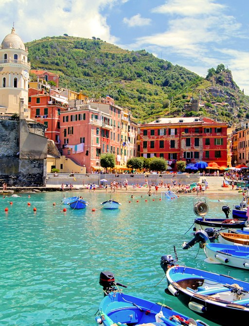 a bright and colourful marina in positano italy just waiting for a fleet of luxury charter yachts to berth and explore the region