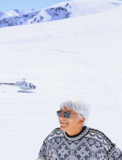 Cherter guest on ski slope