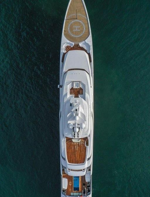 Luxury yacht MADSUMMER aerial image