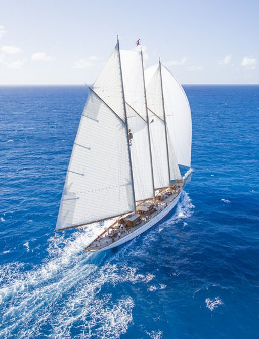 charter yacht ELEONORA is one of the classic yachts competing at the 2017 RORC Caribbean 600