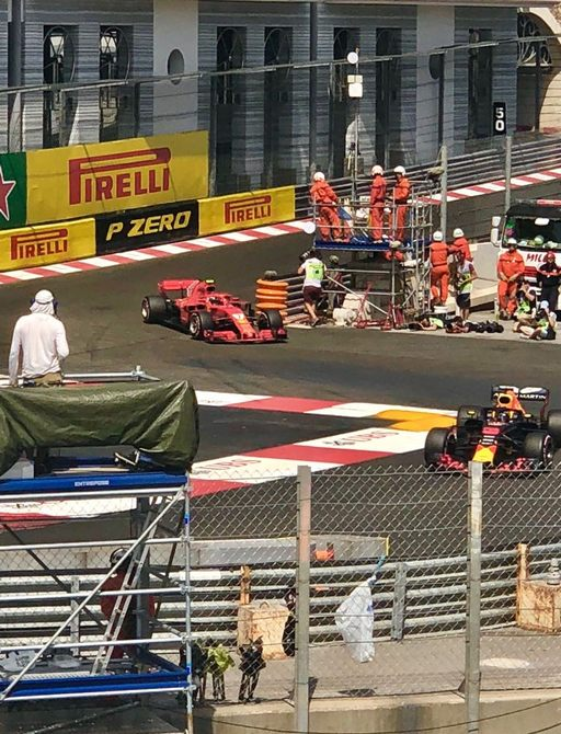 Formula 1 cars competing on the Monaco Grand Prix circuit